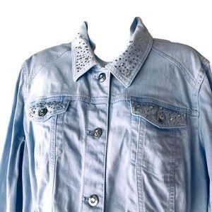 Chico's Jackets & Coats - Platinum Chico's Size 2 Light Blue Jean Jacket